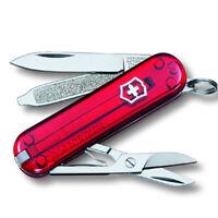 Victorinox Taschenmesser CLASSIC transparent rot, mit kostenloser Gravur
