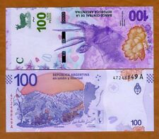 Argentina, 100 Pesos, ND (2018), P-New, A-Series, New Design UNC > Deer