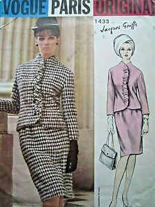 Vintage Vogue Original pattern by Jacques Griffe  , jacket and skirt ,size 16