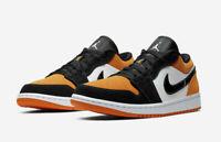 Jordan 1 Low White Black Starfish 553558-128 Basketball Shoes Men's Multi Size