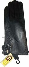 Woman's Gorgeous Leather Winter Gloves worm Leather Gloves Guantes De piel BNWT