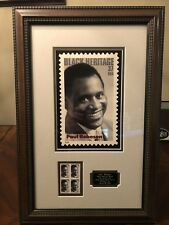 January 20th, 2004 Paul Robeson Black Heritage Series USPS Stamp Plaque