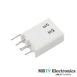 47Ω 5W Cavo Radiale Filo Avvolto Ceramica Resistori - 47 Ohm 5 Watt - 5W47RJ