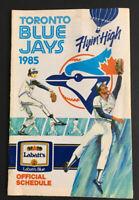 Vintage 1985 Toronto Blue Jays - Labatt's Blue MLB Baseball Official Schedule