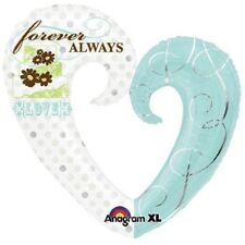 Amscan Supershape Forever & Always Balloon (one Size) (white/blue) - Foil