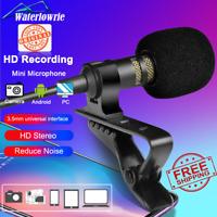 PC / Phone / Camera Mini USB Microphone Lapel Lavalier Mic Portable External But
