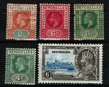 Seychelles G5 selection of 5 mint.
