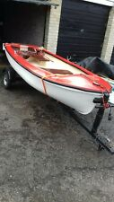"Small Tender Fishing / Rowing Boat With Trailer. 9' 2"" length 4' Beam"