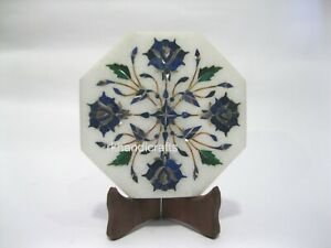 5 Inches Lapis Lazuli Stone Corporate Gift Plate Marble Tea Pot Cum Kettle Stand