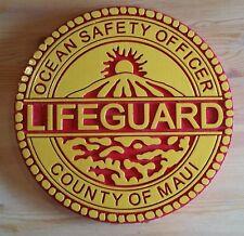 Tiki Bar Maui Lifeguard 3D routed Island Beach pool Sign Custom