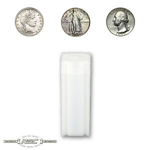 1 - CoinSafe Tube for Quarters - Holds 40 Coins - Standing Liberty & Washington