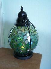 Vintage Laterne Kugel Tiffany-Stil Glaskugel Metall Gebraucht