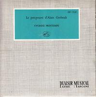 45TRS VINYL 7''/ FRENCH EP YVONNE PRINTEMPS /POT-POURRI D'ALAIN GERBAULT 1E POCH