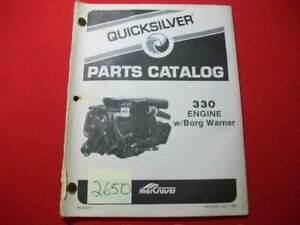 1984 MERCRUISER QUICKSILVER PART CATALOG #90-43075 COVERS 330 ENGINE BORG WARNER