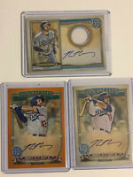 2020 Gypsy Queen Max Muncy Auto Lot. Relic Auto. Orange Auto. Base Card Auto.