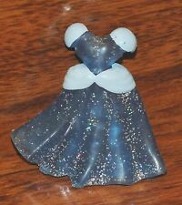 Disney's Cinderella Replacement Rubber Blue Clear Dress Polly Pocket Figurine 3""