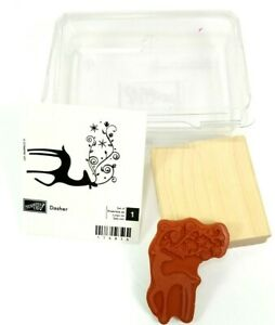 Stampin Up! Wood Rubber Block Dasher Reindeer NEW Self Assemble 2 3/4 x 2 1/2