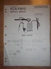 Kenwood Service Manual~KCA-FM10 FM Modulator~Original Repair Manual