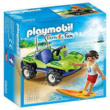 Playmobil Family Fun Surfer With Beach Quad Building Set 6982 NEW Toys Kids