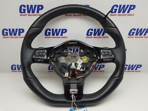 VOLKSWAGEN GOLF R TYPE BLACK LEATHER STEERING WHEEL WITH PADDLE SHIFT GEN 6