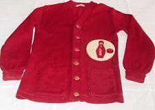 Vintage Original Mid - Century 1950's Bowling Letterman Sweater Cardigan