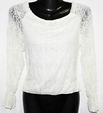 S LOLITA Steam Punk Off Shoulder Gothic Boho Victorian Pirate Lace Blouse Top