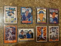 (8) Mark Grace 1988 1989 Score Donruss Fleer Topps Rookie Card Lot RC Cubs