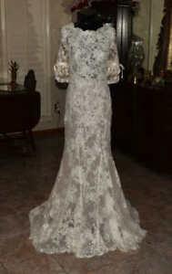 ANNASUL Y Lace Bridal Gown Wedding Dress Size 8        REF:4722938