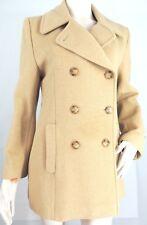 Camel Hair Womens Pea Coat Tan Double Breasted MDP Designs NY 4