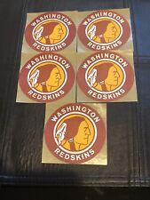 "Lot (5) 1960s 3"" Vintage NFL Washington Redskins Cloth Sticker Patches Mint Rare"