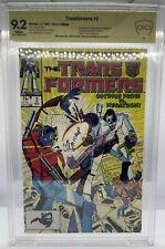 Transformers 2 CBCS not CGC Signed Michael Golden & Salicrupt Key Comic