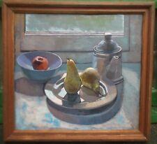 """still life oil painting """"pears on window ledge"""""""