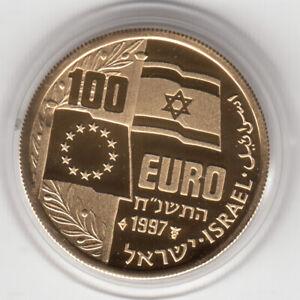 Israel 1997 100 Euro P.M. Yitzhak Rabin Proof Coin 20.8mm 3.5g Gold 22k
