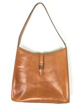Wilson's Pelle Studio Purse Handbag Smooth Brown Leather Shoulder Bucket Bag