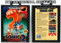 Sonic the Hedgehog 2 - Sega Genesis Custom Case *NO GAME*