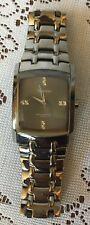 Armitron men's 20/4507 stainless steel bracelet watch swarovski crystal markers