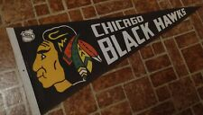 """1970s NHL CHICAGO BLACKHAWKS 30"""" Pennant ( Full Size) Excellent Condition*"""