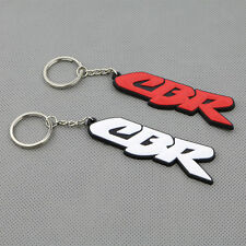White Motorcycle Rubber Keyring Keychain Key Chain Key Ring For Honda CBR Gift