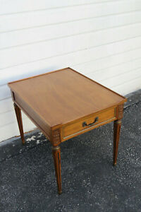 Mahogany Nightstand Side End Lamp Table by Henredon Furniture 9967