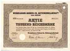 Wesselmann-Bohrer Co. AG  Gera - Zwötzen  1941