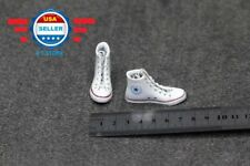 CUSTOM 1/6 WHITE Sneakers Shoes HOLLOW for 12'' FEMALE figure doll