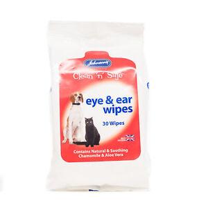 JOHNSONS Clean 'n' Safe Eye & Ear Wipes - Sachets 30 wipes