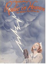 I WISH THERE WAS A RADIO IN HEAVEN SO MOTHER CAN LISTEN IN-SHEET MUSIC-1937-NEW!