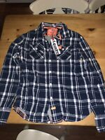 Superdry Winter Wash Basket Shirt Size Large Brand New With Tags