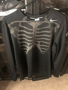 Nike Skeleton Reflective Running Top Men's Large RARE