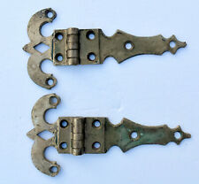 Vintage- Lot of 2 -Chromed Brass ICE BOX Door Hinges