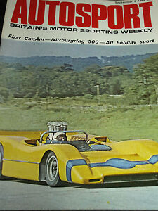 NURBURGRING 500KM 1968 FIAT ABARTH P SCHETTY CAN AM ROAD AMERICA McLAREN M8A