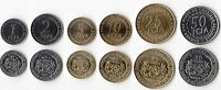 CENTRAL AFRICAN STATES – 6 DIF UNC COINS SET: 1 - 50 FRANCS 2006 YEAR KM#15-20