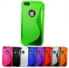 Custodia cover case S Line WAVE Colorate per Apple Iphone 4 4G 4S + 1 pellicola