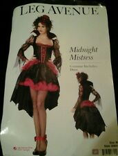Sexy Halloween Adult Midnight Mistress Gothic Girl Vampire Costume  Sz Medium